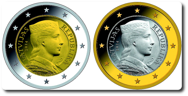 Letonia adjudica la acuñación de sus euros de 2014 1-y-2-euros-letonia-2014
