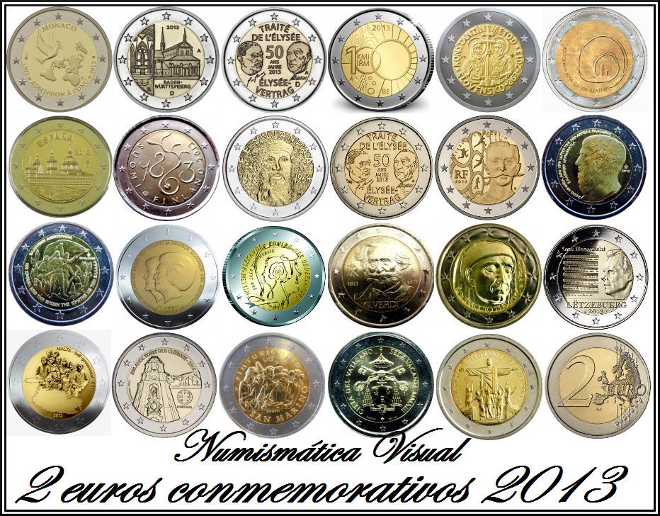 Resumen en imágenes de la coleccion de 2 euros conmemorativos 2013cc