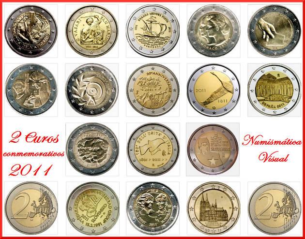 Resumen en imágenes de la coleccion de 2 euros conmemorativos 2011