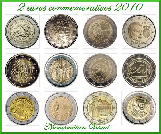 Resumen en imágenes de la coleccion de 2 euros conmemorativos 2-eu2010