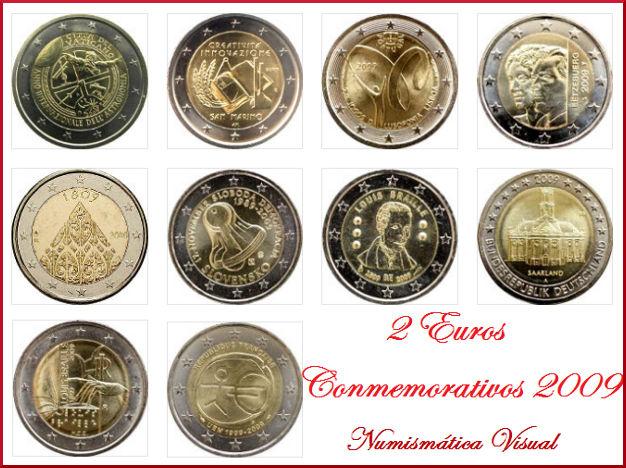 Resumen en imágenes de la coleccion de 2 euros conmemorativos 2009