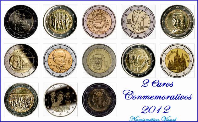 Resumen en imágenes de la coleccion de 2 euros conmemorativos 2eu2012