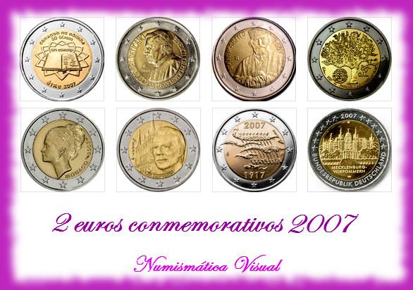 Resumen en imágenes de la coleccion de 2 euros conmemorativos 2eu2007
