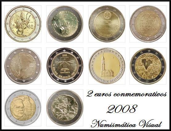 Resumen en imágenes de la coleccion de 2 euros conmemorativos 2eu2008