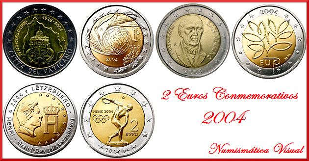 Resumen en imágenes de la coleccion de 2 euros conmemorativos 2004