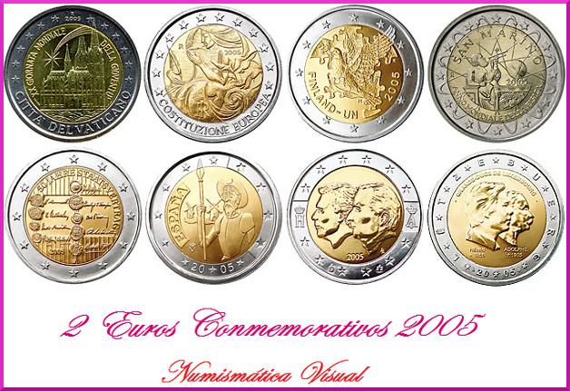 Resumen en imágenes de la coleccion de 2 euros conmemorativos Tab