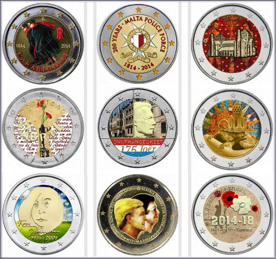 Así se colorean las monedas de 2 euros conmemorativas | Numismatica ...