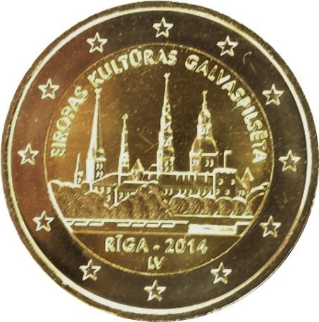 Letonia emitirá una moneda de 2€ cc en 2014 Riga